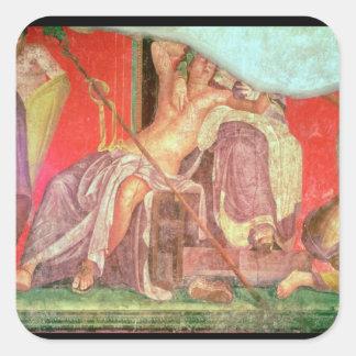 Dionysian Entourage with Dionysus Square Sticker