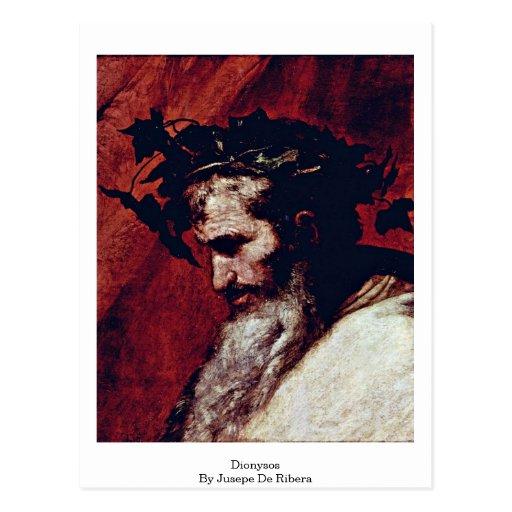Dionysos de Jusepe De Ribera Tarjetas Postales