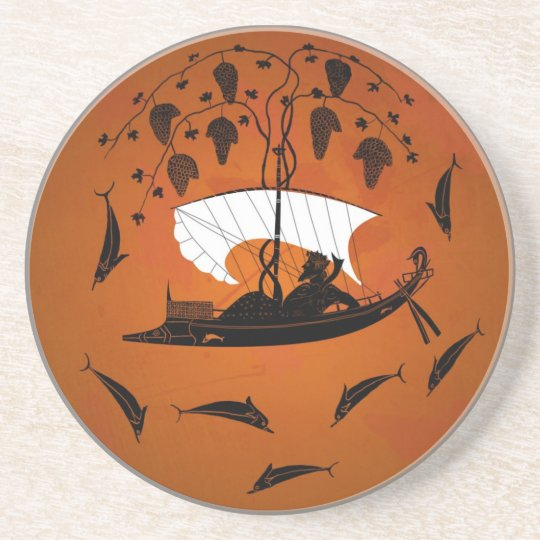 Dionysus and the Dolphins Coaster