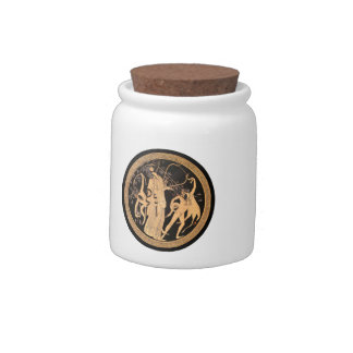 Dionysus and the Satyrs Candy Jars