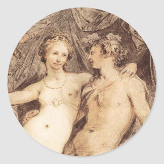Dionysus and Venus Classic Round Sticker