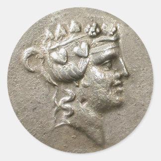 Dionysus Tetradrachm Classic Round Sticker
