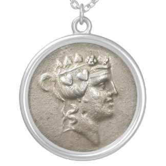 Dionysus Tetradrachm Silver Plated Necklace