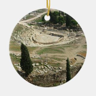 Dionysus Theater Ceramic Ornament