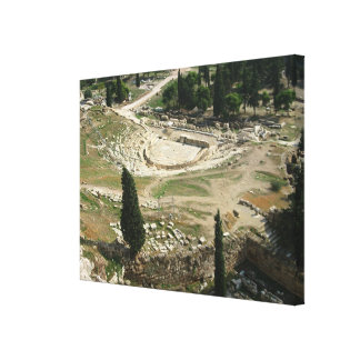 Dionysus Theater Stretched Canvas Print