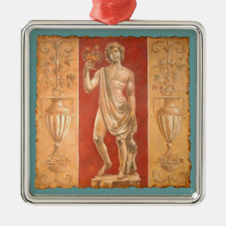 Dionysus with Urns Metal Ornament