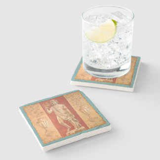 Dionysus with Urns Stone Coaster