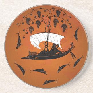Dionysus y el práctico de costa de los delfínes posavaso para bebida