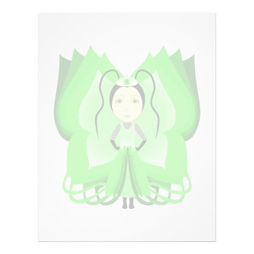 Diopside Butterfly Princess Customized Letterhead
