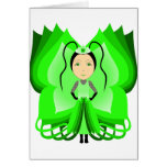 Diopside Butterfly Princess Greeting Card