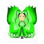 Diopside Butterfly Princess Postcard