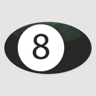 Diopside Magic 8 Ball Oval Sticker