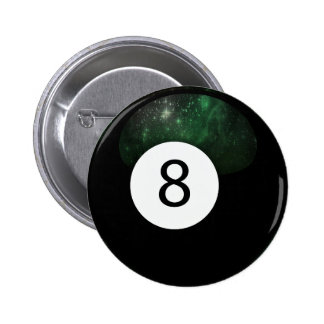 Diopside Magic 8 Ball Pinback Button