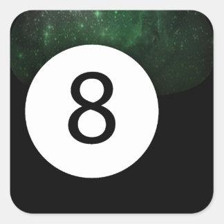 Diopside Magic 8 Ball Square Sticker