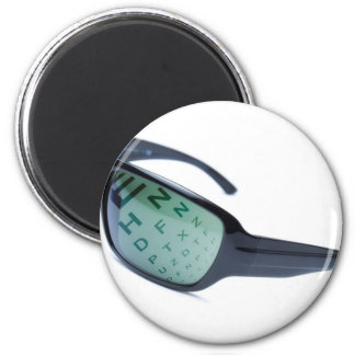 Dioptric sunglasses 2 inch round magnet