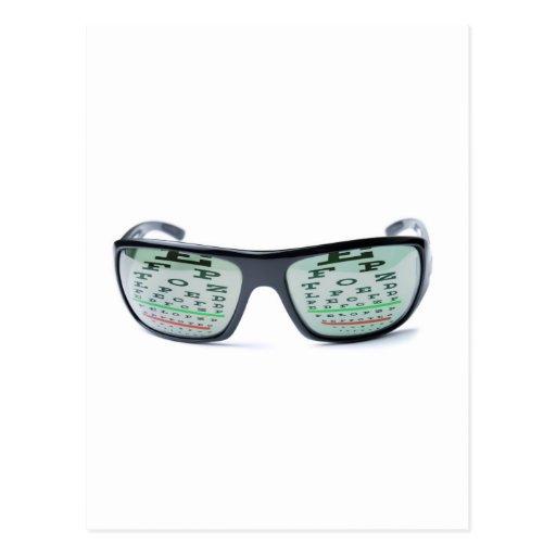 Dioptric sunglasses postcard
