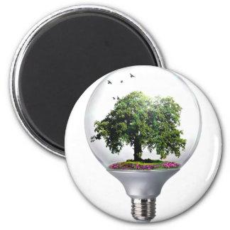 Diorama Light bulb Tree Magnet