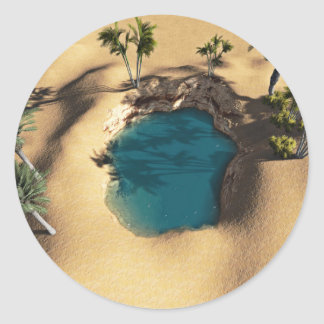 Diorama Of A Watering Hole Classic Round Sticker