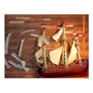 Diorama Pirate Galleon Postcard