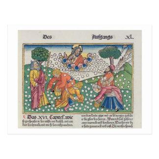 Dios 13-22 del éxodo 16 proporciona las codornices tarjetas postales