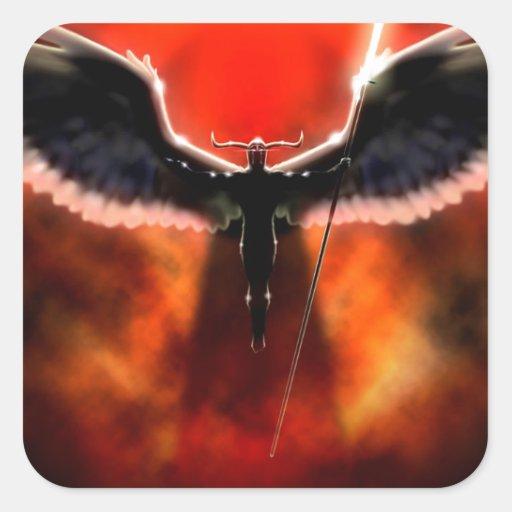 Dios abstracto de la fantasía de la guerra Ares Pegatina Cuadrada