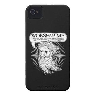 Dios: Adóreme así que puedo ahorrarle de mí iPhone 4 Case-Mate Carcasa