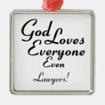 ¡Dios ama a abogados! Adornos De Navidad