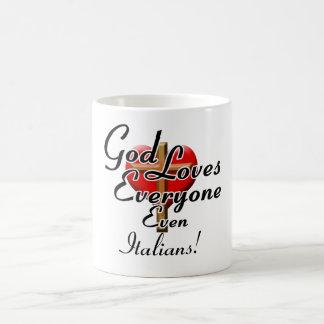 ¡Dios ama a italianos! Taza Clásica