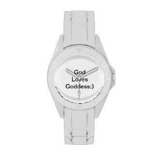 Dios ama a la diosa:) reloj de mano