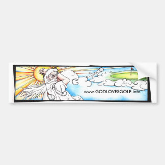 Dios ama a la pegatina para el parachoques del gol pegatina para auto