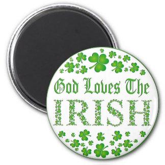 Dios ama a los irlandeses imán redondo 5 cm