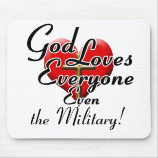 ¡Dios ama a los militares! Mousepad