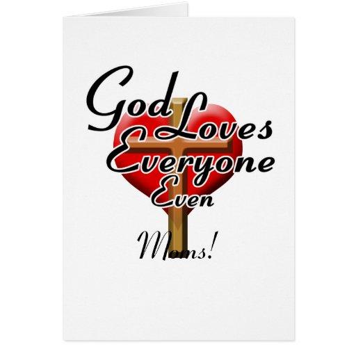 ¡Dios ama a mamáes! Tarjeta De Felicitación