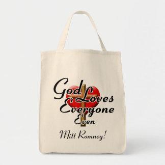 ¡Dios ama a Mitt Romney! Bolsa De Mano