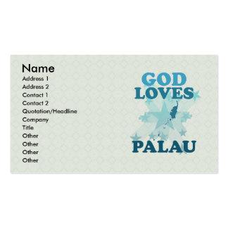 Dios ama a Palau Tarjetas De Visita