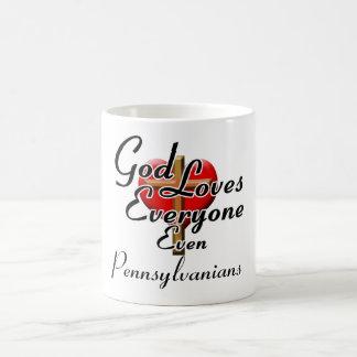 Dios ama a Pennsylvanians Taza Clásica