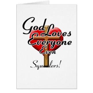 ¡Dios ama a Squealers! Tarjetas