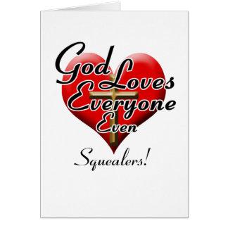 ¡Dios ama a Squealers! Felicitacion