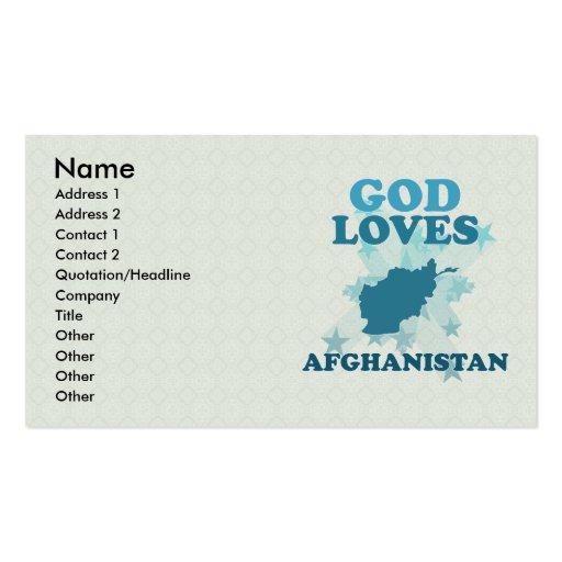 Dios ama Afganistán Tarjeta De Visita