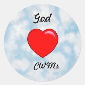 Dios ama al pegatina cristiano de las mamáes