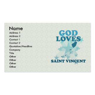 Dios ama al santo Vincent Tarjetas De Visita