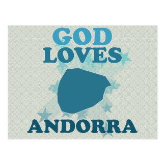 Dios ama Andorra Postal