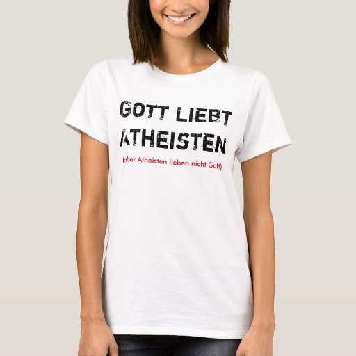 Dios ama ateos playera