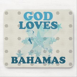Dios ama Bahamas Tapetes De Raton