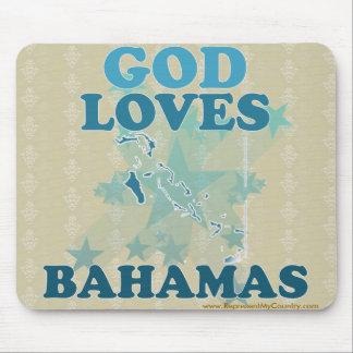 Dios ama Bahamas Alfombrillas De Ratón