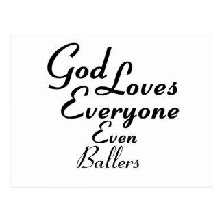 Dios ama Ballers Postal