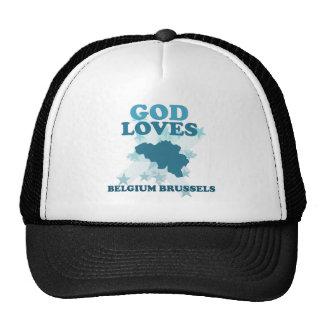 Dios ama Bélgica Bruselas Gorras
