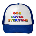 Dios ama cada uno casquillo gorras de camionero