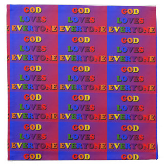 Dios ama cada uno las servilletas