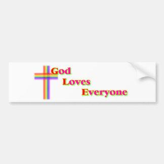 Dios ama cada uno pegatina para el parachoques pegatina para auto